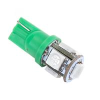 Зеленая светодиодная лампа LG SMD 5050 5 LED T10 W5W
