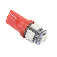 Красная светодиодная лампа LG SMD 5050 5 LED T10 W5W