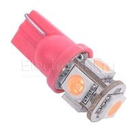 Розовая светодиодная лампа LG SMD 5050 5 LED T10 W5W