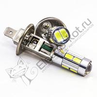 Светодиодная лампа 10 SMD 5630 с цоколем H1