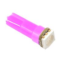 Светодиодная лампа 1 SMD 5050 LG Т5 розовая