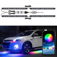 Подсветка арок авто ElectroKot светодиодная RGB управление смартфоном комплект 4 модуля