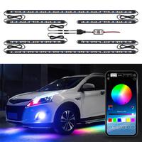 Подсветка днища авто ElectroKot светодиодная RGB управление смартфоном комплект 6 модулей