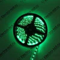 Светодиодная водонепроницаемая лента зеленая 12V 60 LED SMD3528