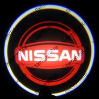 Проекция логотипа Nissan (Ниссан) красная Premium 32x19 mm 7W - 2 шт