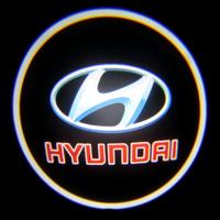 Проекция логотипа Hyundai (Хендай) красный Premium 32x19 mm 7W - 2 шт