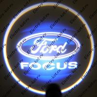 Проектор логотипа Ford Focus (Форд Фокус) Premium 32x19 mm 7W - 2 шт