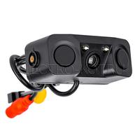 Камера заднего вида с парктроником и звуковым оповещением (2 датчика, чёрный)