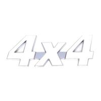 Металлический шильдик 4X4 белый самоклеющийся