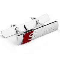 Накладка на решетку радиатора металлический шильдик S-Line матовый