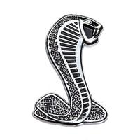 Эмблема Shelby Cobra металлическая самоклеющаяся