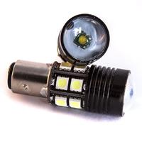 Светодиодная LED лампа 12 SMD 5050 +Cree R5 1157 - BAY15D - P21W/5W
