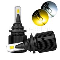 Светодиодные лампы двухцветные Razor II 12 CSP белый 5000K/желтый HB4 2 шт