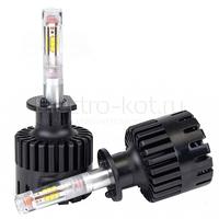LED лампы для линзованных фар H1 Round Light 12 CSP комплект - 2 шт