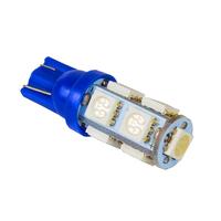 Синяя светодиодная лампа Т10 9 SMD5050