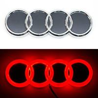4D логотип Audi (Ауди) 180х60 мм красный