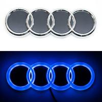 4D логотип Audi (Ауди) 180х60 мм синий
