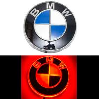 4D логотип BMW (БМВ) 82 мм красный