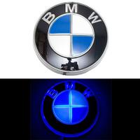 4D логотип BMW (БМВ) 82 мм синий
