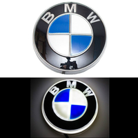 4D логотип BMW (БМВ) 82 мм белый
