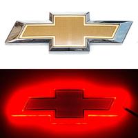 4D логотип Chevrolet (Шевроле) 170х55 мм красный