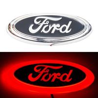 4D логотип Ford (Форд) 150 х 60 мм красный