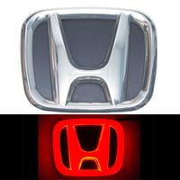 4D логотип Honda (Хонда) 90х75 мм красный