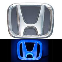 4D логотип Honda (Хонда) 90х75 мм синий