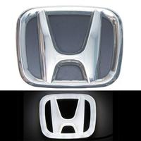 4D логотип Honda (Хонда) 100х80 мм белый