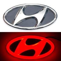 4D логотип Hyundai (Хендай) 130х65 мм красный