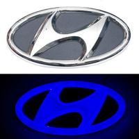 4D логотип Hyundai (Хендай) 130х65 мм синий