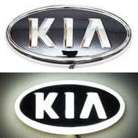 4D логотип KIA (КИА) 130х65 мм белый