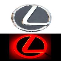 4D логотип Lexus (Лексус) 105х75 мм красный