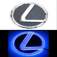 4D логотип Lexus (Лексус) 125х90 мм синий
