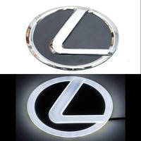 4D логотип Lexus (Лексус) 105х75 мм белый