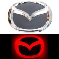 4D логотип Mazda (Мазда) 125х100 мм красный