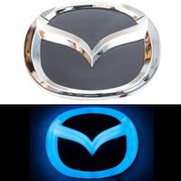4D логотип Mazda (Мазда) 125х100 мм синий