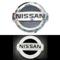 4D логотип Nissan (Nissan) 105х90 мм белый