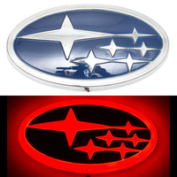 4D логотип Subaru (Субару) 140х75 мм красный
