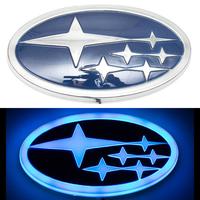 4D логотип Subaru (Субару) 140х75 мм синий