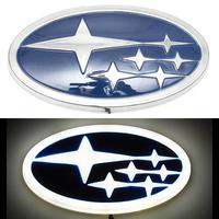 4D логотип Subaru (Субару) 140х75 мм белый