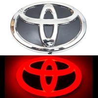 4D логотип Toyota (Тойота) 160х110 мм красный