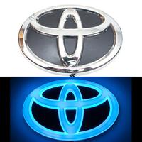 4D логотип Toyota (Тойота) 160х110 мм синий