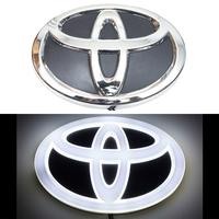 4D логотип Toyota (Тойота) 140х100 мм белый