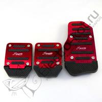 Накладки на педали авто Sports МКПП красные
