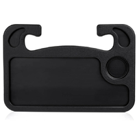 Столик на руль автомобиля двусторонний пластиковый универсальный черный