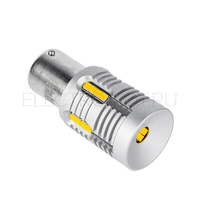 LED лампа в поворотники BAU15S Super Canbus CSP2020 24 Вт оранжевая
