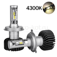 LED лампы головного освещения для авто Appolo 2.0 CSP 4300K H4 комплект 2 шт