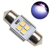 Светодиодная лампа с обманкой 4 SMD3030 C5W 31mm 6000K 12-24V