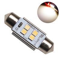 Светодиодная лампа с обманкой 4 SMD3030 C5W 36mm 4300K 12-24V